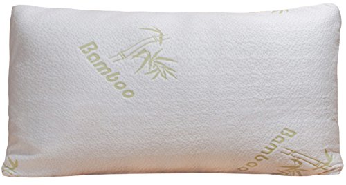 Bamboo-Pillow-Shredded-Memory-Foam-Stay-Cool-Removable-Cover-With-Zipper-Hotel-Quality-Hypoallergenic-Pillow-Relieves-Snoring-Insomnia-Asthma-Neck-Pain-TMJ-and-Migraines-King
