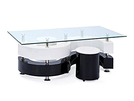 Cm Basse 70 Avec 46 Serena 130 Poufs Blancnoir 50100015 X Table Links 2 4AjS5cL3Rq