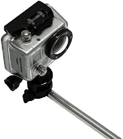 4 3+ MaximalPower PINK 42 Extendable Handheld Monopod Selfie Stick Pole with Mount Adapter For GoPro HERO 3