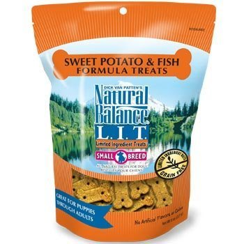 Natural Balance L.I.T. Limited Ingredient Small Breed Dog Treats 8 oz. 1 1/8'' Length Sweet Potato & Fish Grain-Free (pack of 2) by Natural Balance