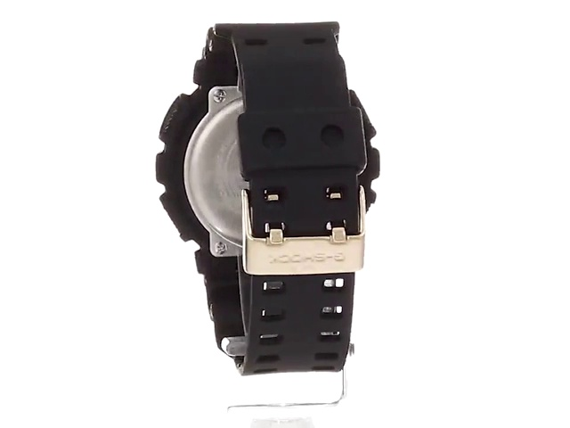 Casio Men's G-Shock XL Series Japanese Quartz Watch with Silicone Strap, Black, 28 (Model: GA-100GBX-1A9) 5