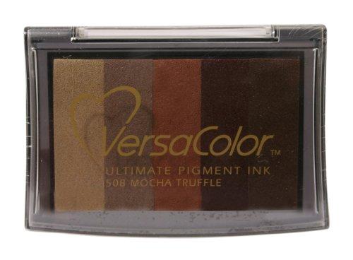 (Tsukineko Versa Color 5-Color Pigment Inkpad, Full, Mocha Truffle)