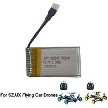 szjjx Batería recargable 3.7V 750mAh para szjjx air-ground Quadcopter RC Drone giroscopio de 6ejes Flying Car 2.4Ghz 6CH Tierra/Cielo 2Modos de helicóptero 2en 1Toy sj23