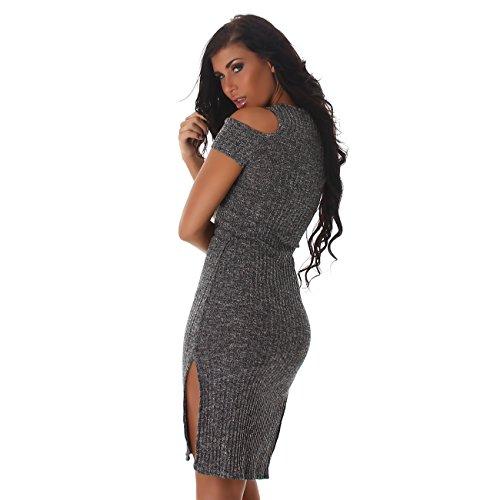 Voyelles - Vestido - Sin tirantes - para mujer gris