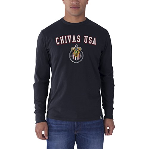 MLS C.D. Chivas USA Men's '47 Brand All Pro Long-Sleeve Flanker Tee, Fall Navy, Large (Soccer Team Usa Chivas)