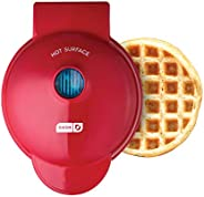 Dash DMW001RD Mini Maker for Individual Waffles, Hash Browns, Keto Chaffles with Easy to Clean, Non-Stick Surf