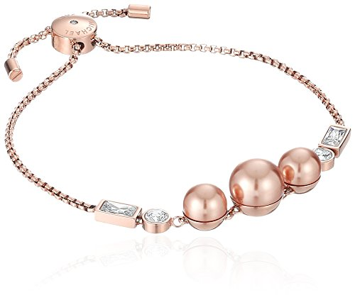 Michael Kors Modern Classic Gold-Tone, Rose Pearl, and Crystal Slider (Michaels Jewelry Making)