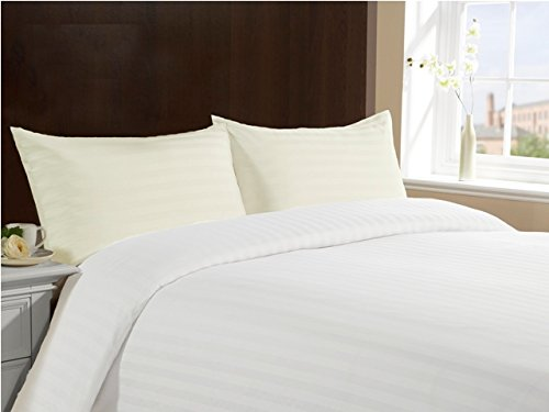 100% Cotton Hotel Collection Pillow Cases(set of 2)- Standard- Ivory