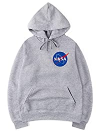 YIMIAO Boys NASA Logo Hoodie Space Exploration Astronaut Sweatshirt Pefect Gift for NASA Fans