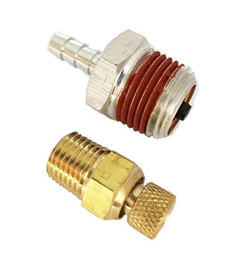 Sellerocity Brand Kit American Made Aluminum Check Valve & Drain Valve Compatible With Porter Cable Dewalt Craftsman D27022 A19714 N541850 C2005 C2006