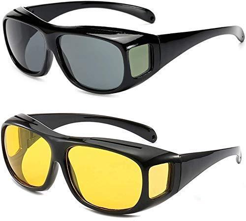 Nubilous HD Vision Day and Night Unisex HD Vision Goggles Anti-Glare Polarized Sunglasses Men/Women Driving Glasses UV…