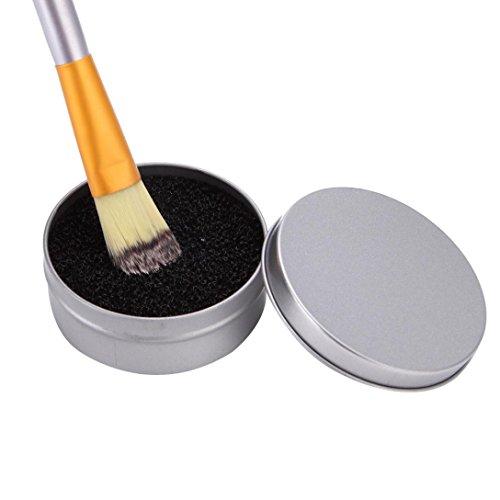 Quick Wash For Brush,Elaco Makeup Brush Cleaner Sponge Remover Color From Brush Eyeshadow Sponge Tool Cleaner (Silver)