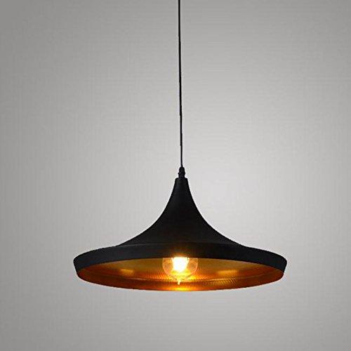 %Lampe Retro Kronleuchter, moderne Deckenleuchte Metall Metall Deckenleuchte E27 Lampe (schwarz) [Energieklasse A +] (Farbe   A)