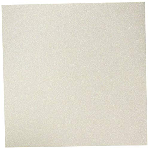 American Crafts Coredinations Specialty Cardstock Glitter Silk 20 Pack of 12 x 12 Inch Opulant Opal, Large