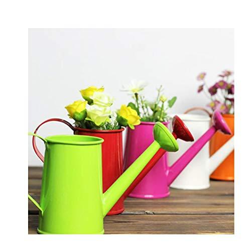 Trumpet Flower Table Lamp - ART-H Pastoral Style Colorful Tin Flower Pot Bonsai Watering Can Pot Garden Supplies Photo Props Choose