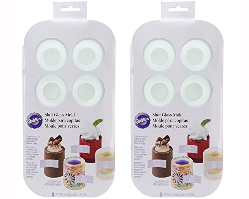 2 X Wilton 570-0118 8 Cavity Round Silicone Shot Mold, Green (Edible Shot Glasses)