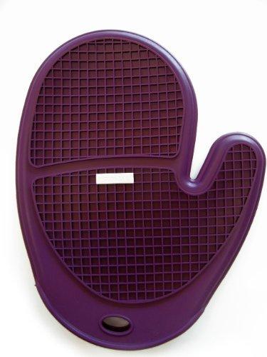 (Siliconezone SZ11KA-11430AD Grid Oven Mitt, 10 inch, Eggplant)