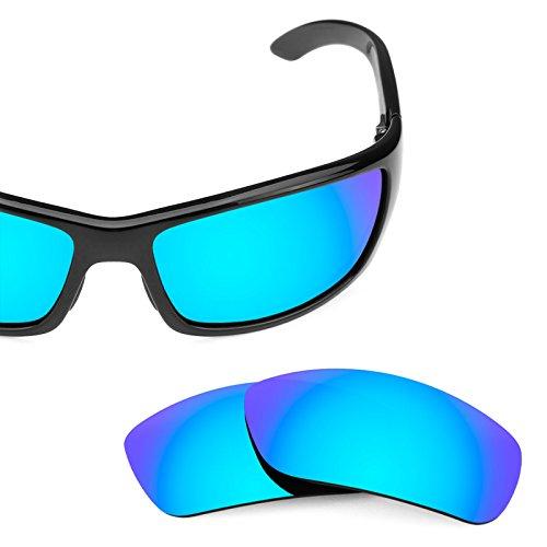 Verres de rechange pour Maui Jim Canoes MJ208 — Plusieurs options Polarisés Elite Bleu Glacier MirrorShield®
