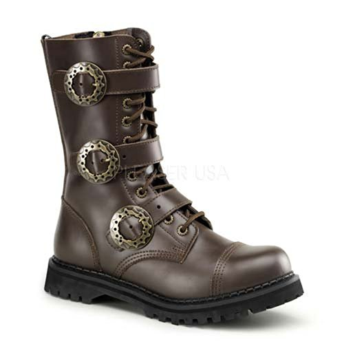 12 UK 4 EU STEAM Size 37 Demonia Leather Brown U6aBpvW7q