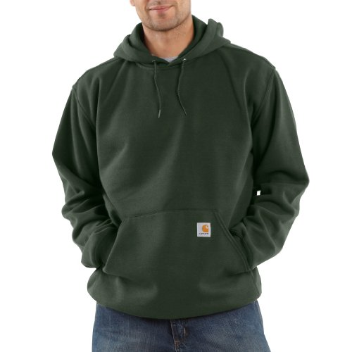Carhartt Men's Midweight Sweatshirt Hooded Pullover Original Fit K121,Olive,XX-Large by Carhartt