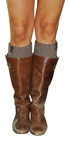 Lucky Love Boot Cuffs for Women, Cute Leg Warmer Boots Topper, Knit Boot Socks (Girls Knee High Rain Boots compare prices)