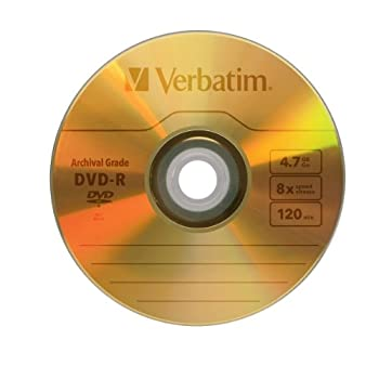Verbatim Ultralife 4.7gb 8x Gold Archival Grade Dvd-r, 5-disc Jewel Case 96320 1