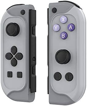 JOYTORN Switch Joy Pad Replacement for Switch,Switch Joy-con(L/R) Remotes Controller with Turbo,Motion Control & Dual Shock,Built-in Games Props Function-Wired/Wireless Switch Controller-Gray