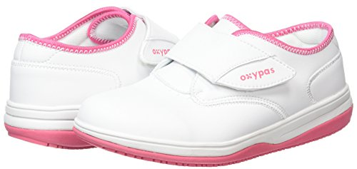 Oxypas Medilogic Emily Slip-resistant, Antistatic Nursing Shoe, White (Lbl), 5.5 UK (39 EU) blanco - White (Fux)