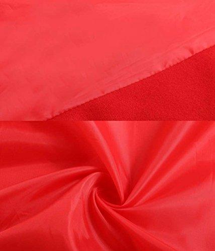 ZKOO Femmes Batwing Manteaux Tranche Poncho Capes Cape Chale Manteau avec Poche Automne Hiver Rouge lgantes Rouge