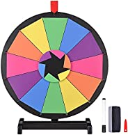 """WinSpin® 18"""" Tabletop Prize Wheel 12 Slot Spinning Game with Dry Erase Tradeshow Carnival Something Fun a"""