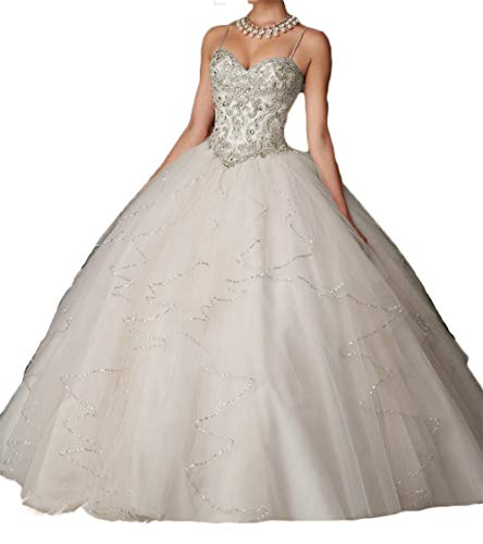 2 Piece Lavender Dress - Dydsz Women's Quinceanera Dresses 2019 Prom Wedding Ball Gown 2 Piece Beaded D203 Ivory 2