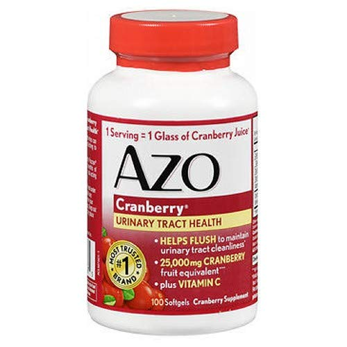 AZO Cranberry, Maximum Strength, Softgels 100 ea (Pack of 4)