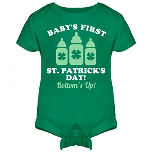 [Funny Baby's First St Patricks: Infant Rabbit Skins Lap Shoulder Creeper] (Baby St Patricks Day Clothing)