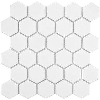 White Unglazed Porcelain Mosaic Square 2x2 Inch Porcelain