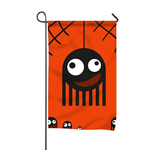 BYUII Cute Monsters Spiders On Web Halloween Clip Art Welcome Garden Flag Vertical Outdoor and Indoor]()