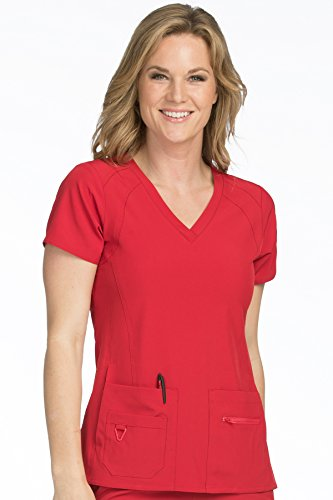 - Med Couture Activate Women's V-Neck Racerback Scrub Top, Red, XXX-Large