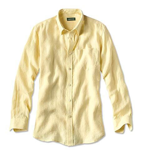 90366ed196 Orvis Long-sleeved Pure Linen Shirt