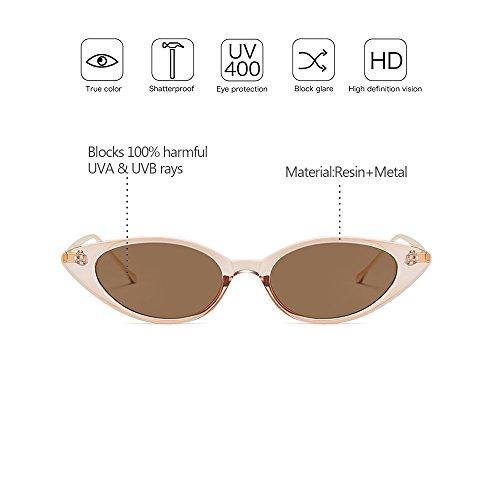 Pequeño de Gafas Marco UV400 Estilo alta 08 Metal Vintage Gama sol protección Marco ZEVONDA Mujeres de zqA4RPw1