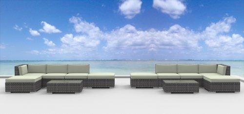 Assembly 12 Strand (UrbanFurnishing.net 12a-Laguna-beige 12 Piece Modern Patio Furniture Sofa Sectional Couch Set)