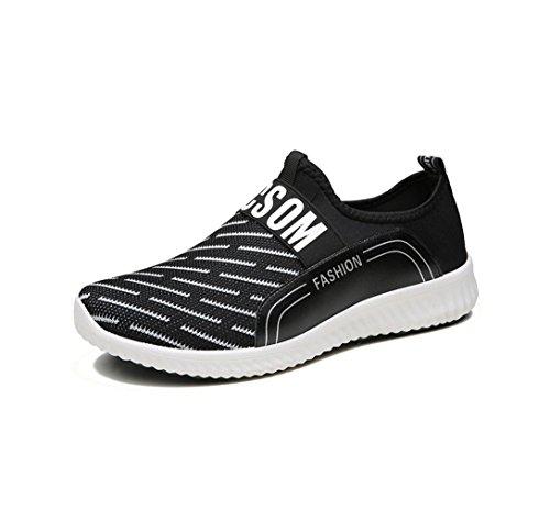 HYLM verano nuevos zapatos de moda coreana cómoda zapatos transpirables Black