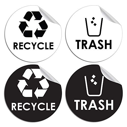Recyclable Waste Decals - Recycle Trash Bin Logo Sticker - 4