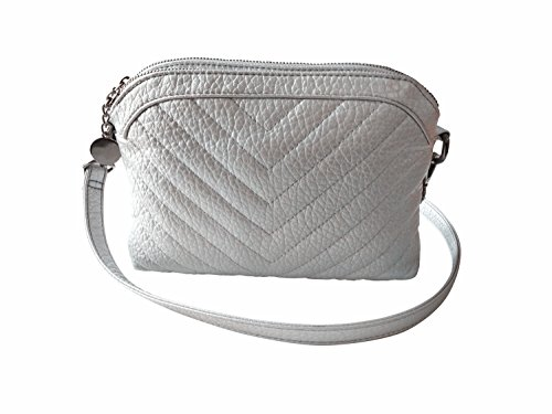 Bag Cross Women's Straps Silver Fashion Body Shoulder LQT Two Bag Silver Small Clutch tYx0dOwq
