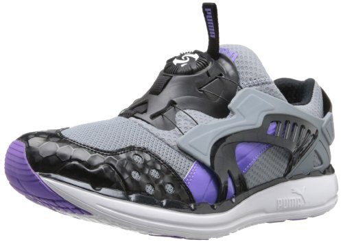 PUMA Men's Future Disc Lite Opulence V2 Classic Sneaker,Tradewinds/Fluorescent Purple/Black,11 M US (Mens Slip On Shoes Puma)