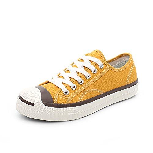 Comode Casual Giallo dimensioni Punta EU36 Scarpe Giallo piatte Colore CN36 scarpe estive Bianco donna Scarpe UK4 tonda NAN da Bianca qHZnfXwxv