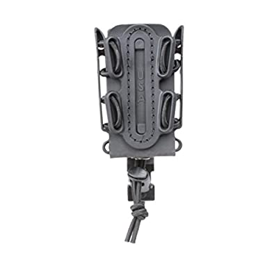(BLACK) Soft Shell Scorpion -short- Pistol Mag Carrier with P1 molle/stacking clip 100% Made in the USA