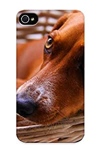 Hot MHBXhas3658TSjvL Case Cover Protector For Iphone 4/4s- Dog In A Baskert/ Special Gift For Lovers