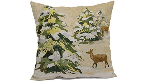 Toss Pillow Deer - Brentwood Originals 8478 Trees and Deer Tapestry Toss Pillow