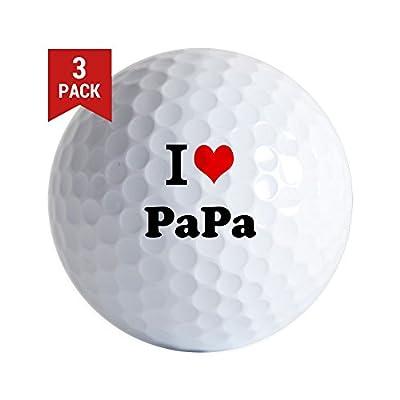 CafePress - I Love Papa Golf Ball - Golf Balls (3-Pack), Unique Printed Golf Balls