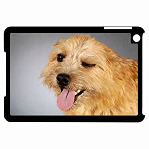 Customized Back Cover Case For iPad Mini Hardshell Case, Black Back Cover Design Dog Personalized Unique Case For iPad Mini