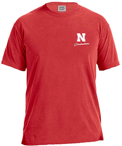 NCAA Nebraska Cornhuskers Women's School Pride Frame Short Sleeve Comfort Tee, Medium,Red ()